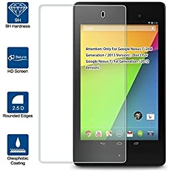 """Beiuns Vidrio Templado Protector de Pantalla para Asus Google Nexus 7 (2nd generación / 2013 Versión 7"""") (no para Google Nexus 7(1st generación / 2012 Versión))"""