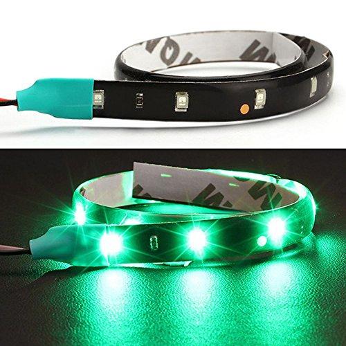 Itimo 30 cm DIY Flexible étanche de voiture lumière 15smd LED DRL Bandes lumières de voiture Styling Accessoires Décoration lamps (Vert)