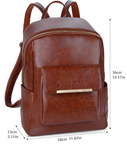 146ca4e510 COOFIT Zaino Donna Elegante Ecopelle Borsa Zainetto Vintage Casual Zaini  Scuola Zaino Backpack Ragazze
