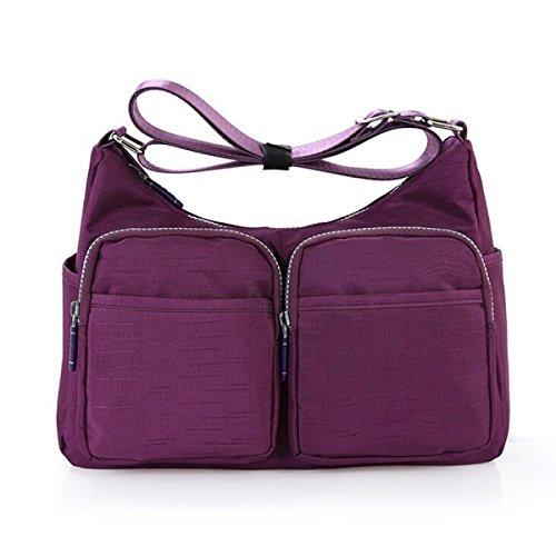 5f382bc7a9 Borse A Tracolla Messenger Borse Multitasche Crossbody Impermeabile Borse  Purple