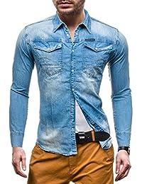 BOLF – Chemise casual – manches longues – Jeans – DENIM REPUBLIC 4419 – Homme