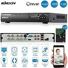 KKmoon 8 Canal AHD DVR/NVR Grabadora de Video Full 1080N/720P (HDMI P2P Onvif + 1TB Disco Duro, Android/iOS APP, Detección Movimiento, Alarma Email, PTZ para 2000TVL Cámara CCTV)