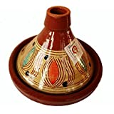 Large Moroccan Tagine Cooking Pot, Terracotta. Authentic, Rustic. Hand-thrown/Hand-painted.