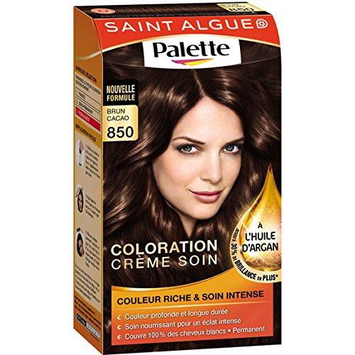 Saint Algue - Palette - 850 Brun Cacao, crème colorante durable - Le kit - (pour la quantité plus que 1 nous vous remboursons le port supplémentaire)