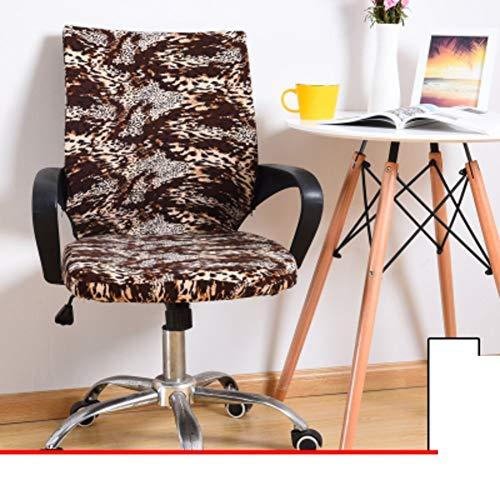 Sishe Stuhl Silpcover Stuhlabdeckungen für Bürocomputer Chefsesselabdeckung Armlehnensitzüberzüge Stoffhocker Einteilige Spandexstuhlabdeckungen by (Farbe : H)