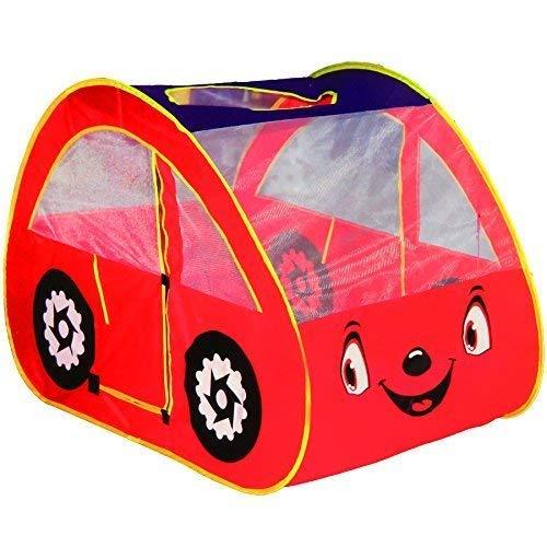 Dominiti Spielzelt Auto in rot / POP-UP mit Boden