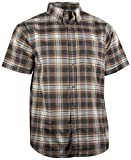 Casual Country Herren Hemd, klassisch, kariert, kurzärmelig, Button-Down, Herren, braun, X-Large
