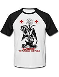 Teesquare1st BAPHOMET FATHER OF KNOWLEDGE CAMISETA DE MANGAS NEGRA CORTAS T-shirt