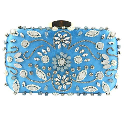 Borsa donna, pochette donna elegante paillettes, borsetta da sera borsa a tracolla catena per matrimonio festa cocktail, tote donna per shopping, partito/estate zarupeng(blu)