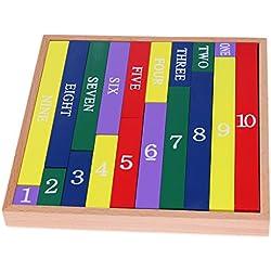 Valcano Montessori Hölzerne Zählmathematikunterricht Pädagogisches Spielzeug Klassische Abbildung Sticks