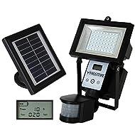 Frostfire Lampe avec détecteur de mouvements numérique à énergie solaire ultra lumineuse 80 LED