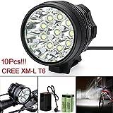LED Taschenlampe,25000LM 10 x CREE XM-L T6 LED 6 x 18650 Fahrrad Radfahren Licht wasserdichte Lampe