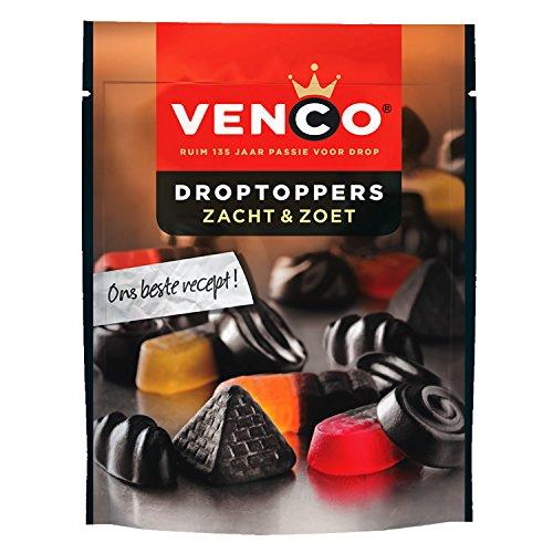 Venco Droptoppers Zacht & Zoet Lakritz-Mix 255g Süße und Weiche mix aus holländische lakritz (Drop Holländischen Lakritz)