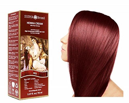 SURYA Brasil - Henna Haarfarbe Creme, rot, 1x70ml