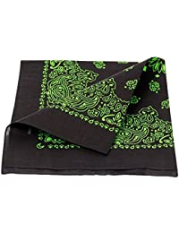 Alsino Bandana Kopftuch Paisley Muster 54 cm x 54 cm Bikertuch Halstuch Nikkituch