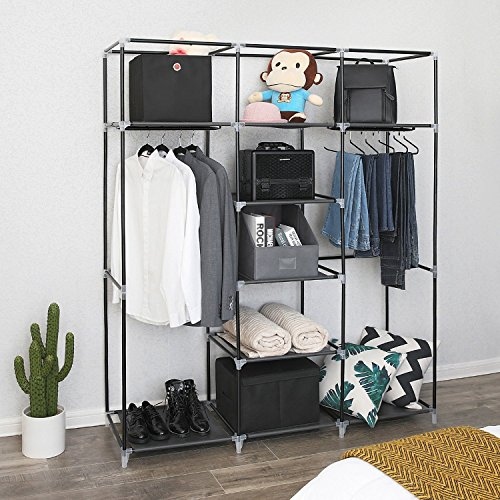 ... Absales Fancy and Portable Foldable Closet Wardrobe Cabinet Portable Multipurpose Clothes Closet Portable Wardrobe Storage Organizer ... & Absales Fancy and Portable Foldable Closet Wardrobe Cabinet Portable ...