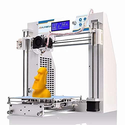 Stampante 3D JGAURORA Stampanti 3D Fai Da Te per Desktop Telaio in metallo Autoassemblato Kit Prusa i3 Usato filamento 1,75 mm ABS PLA