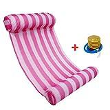 Huijukon Premium Schwimmbad Float Hängematte Wasser Hängematte Lounge Floating Liege Stuhl, rosarot