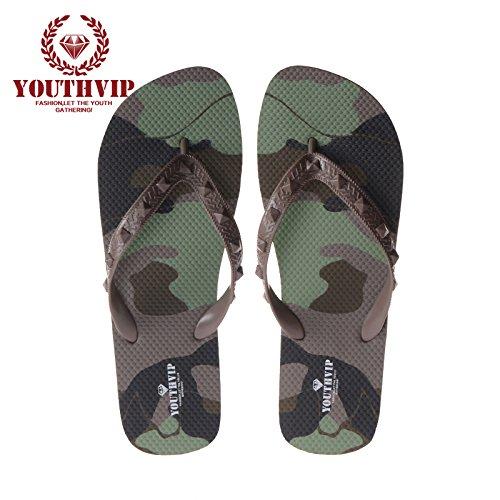 XIAMUO Camouflage paar Charakter flip-flops weiblichen Sommer rutschfeste Schuhe flache Füße flip-flops in Europa und in den Vereinigten Staaten, männliche Modelle, 39, Camouflage/Farbe