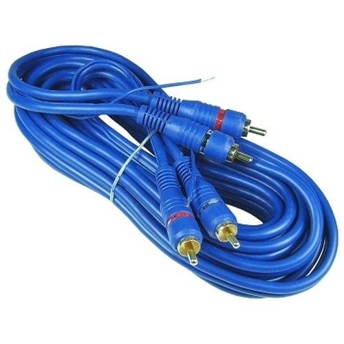 Profi Cinchkabel 5,0m, 2-fach geschirmt, blau, mit Remoteleitung