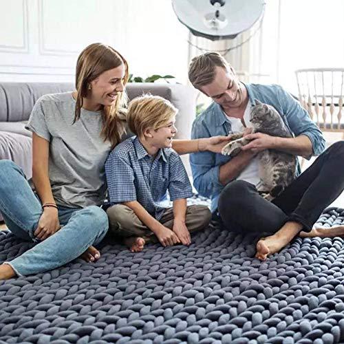 Blanket Dicke Luxus Decke Hand Chunky Gestrickte Decke Sperrig Gestrickte Decken Winter Weichen...