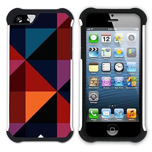 Graphic4You Tier FUR DESIGN Muster Hart + Weiche Kratzfeste Hülle Case Schale Tasche Schutzhülle für Apple iPhone SE / 5 / 5S Design #8