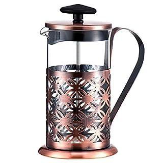 Awakingdemi Stainless Steel Vintage Manual Coffee Maker Pot Glass Teapot Filter Press