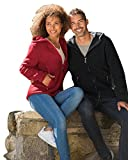 Damen Fleece Jacke, 100% Schurwolle, Engel Natur, Gr. 34/36 - 46/48, 2 Farben (38/40, Rot melange)