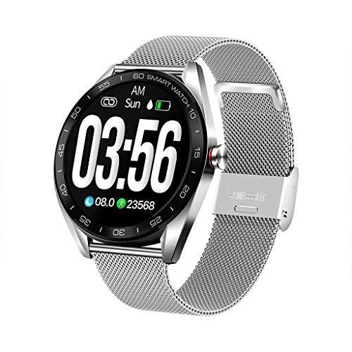Smartwatch,K7 Smart Watch für iOS Android Handyuhr Sport Fitness Uhr Herzfrequenz-Blutdruck-Schlafüberwachung Smart Watch Sport Armband Damen Herren Uhr (D)