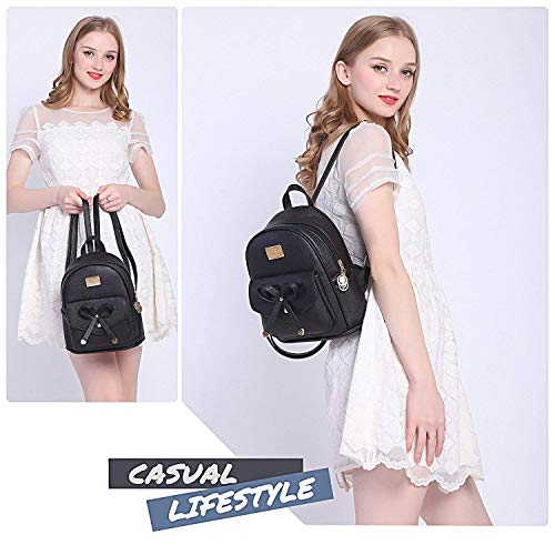 Redlicchi Cute Mini PU Leather Backpack Fashion Small Daypacks Purse for Girls and Women Image 4