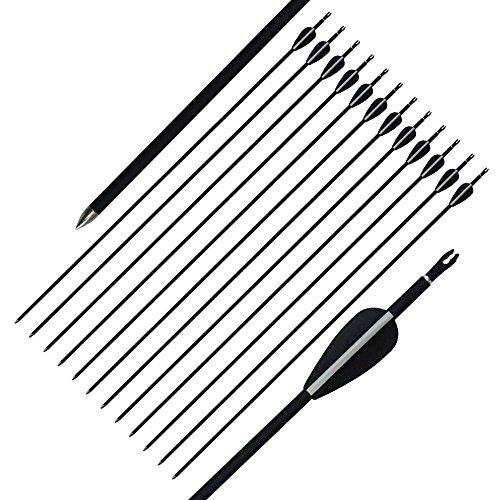 12 stücke 32 zoll bogenschießen gemischt carbon jagd pfeile 6mm compound recurve bogen (Bogen Pfeil Und Schießübungen Mit)