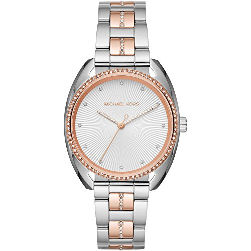 Michael Kors Damen-Armbanduhr Analog Quarz One Size, silberfarben, zweifarbig