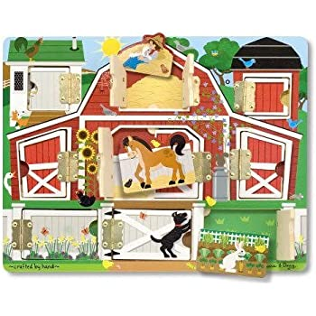 Melissa & Doug Magnetic Farm Hide & Seek With 3 Pretend Keys For Extra Fun