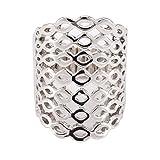 CRAZYCHIC - Bague élastique argentée motif à maille - Bague métal femme - Taille réglable - Bijoux fantaisie