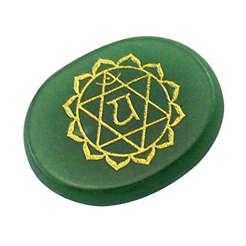 Contever® Incise Pietre di Equilibrio Reiki Chakra Salute Olistica Prodotti per La Cura - 1 Pz Aventurine verde (Chakra del Cuore)
