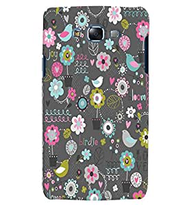 Citydreamz Love Birds Floral Print Hard Polycarbonate Designer Back Case Cover For Samsung Galaxy A5