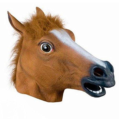 Pferdekopfmaske Tier-KostüM-StüTze (Braune Pferde Maske)