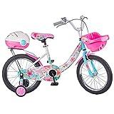 Fenfen Kinder Fahrrad 3-6-jährige Girl Bike 14-Zoll-Fahrrad High-Carbon-Stahl-Kinderwagen, Pink/Farbe (Color : Color)