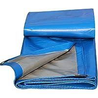 lonas Toldo a prueba de agua protector solar hoja de la tienda techo compacto a prueba de viento espesar poliéster, azul, 200 g/m², 11 tamaños disponibles (Color : Azul-6X10M)