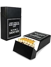 Tuff-Luv Cigarette de silicone couverture de cas Nouveauté - Noir (Trying to Smoke Here)