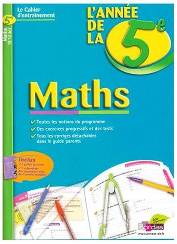 Maths : L'année de la 5e
