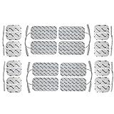 16 electrodos para electroestimuladores GLOBUS - Parches TENS EMS conexión universal banana - (8 * 50x50mm + 8 * 100x50mm) - almohadillas calidad axion