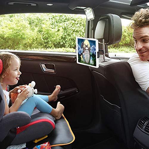 Universale Autositz Tablet/Handy Halterung, Auto Rücksitz Kopfstütze Halterung Einstellbare Halter Für Apple iPad Android und andere 6-11 Zoll Tablets(Red)