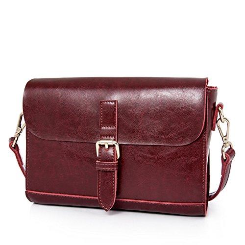 Borsa semplice a spalla/traversa obliqua della signora sacchetto/vintage messenger bag-E D