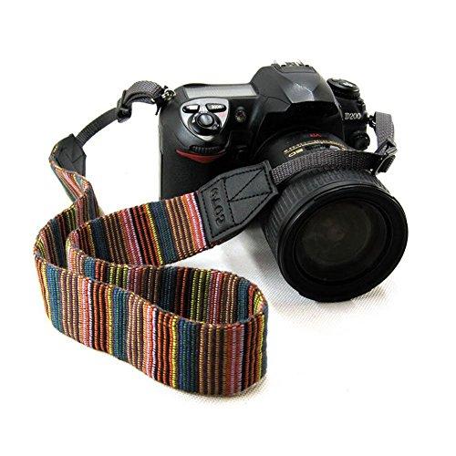 B & Y Weich Mehrfarbig Universal Camcorder Kamera Schultergurt Neck Gürtel (Leder Flag Rebel)
