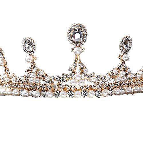 YNYA Diademe Braut Tiara Prinzessin Rosa handgemachte Kuchen Dekoration Accessoires Hochzeit Schmuck Hochzeit Kleid Accessoires Geschenk