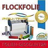 (EUR 25,80 / Quadratmeter) FLOCKFOLIE RED 508 / 200 BÜGELFOLIE TOP ! Preistip Flex Flock 1 M x 50 cm