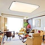 MYHOO 72W Modern LED Deckenleuchte Ultraslim Deckenlampe Schlafzimmer Wandlampe Wohnzimmer Leuchte Kaltweiß(6000-6500K) [Energieklasse A+]