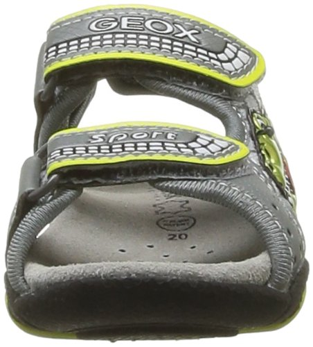 Geox B S.Strike A, Baskets mode bébé garçon Gris (Grey/Lime)