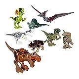 DeeXop 7,6cm Mini Dinosaures avec Différentes Sortes Miniature Figurines (8Pièces de Petite Taille) Obtenez Une 5£ Promo Code avec l'application Amazon